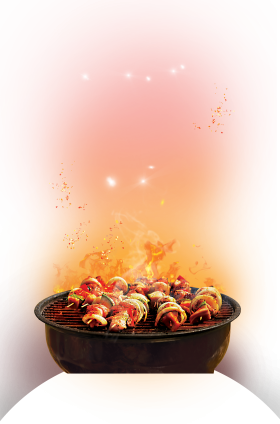 Barbecue cook on Grill PNG