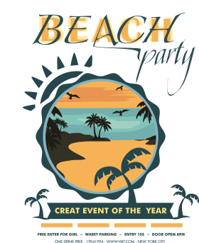 Beach Party PNG