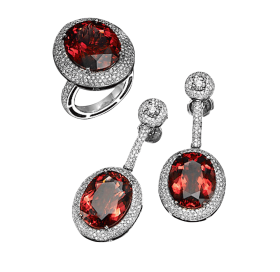 Beautiful Earrings and Ring PNG