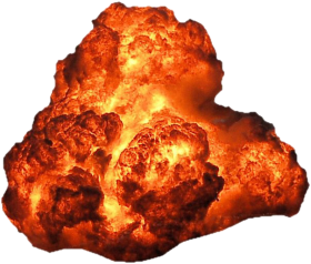 Big Bright Fire Explosion Hot PNG