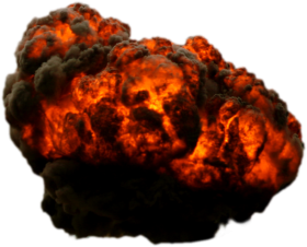 Exploded Firebomb PNG