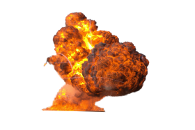 Flamming Hot Fire Explosion PNG