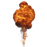 Bright Big Explosion with Fire PNG