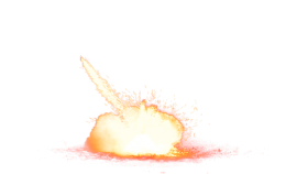 Bright Explosion on Ground PNG