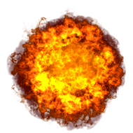 Bright Hot Explosion with Fire PNG