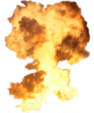 Big Explosion with Flames PNG