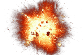 Big Bright Fire Spark Explosion PNG