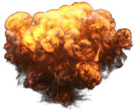 Big Explosion with Fire and Smoke PNG