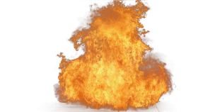 Big Yellow Fire PNG