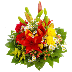 Birthday Flowers Bouquet PNG