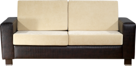Black and white modern Sofa PNG