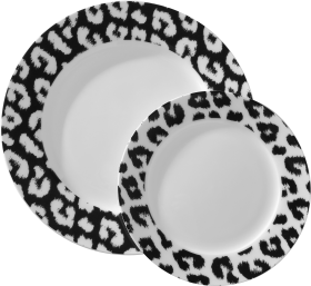Black And White Plates PNG