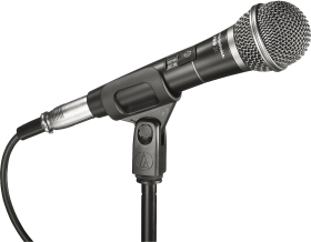 Black audio Microphone PNG