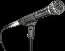 Black audio Microphone PNG