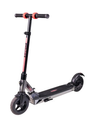 Black E-Scooter PNG