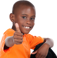 Black Kid Thumbs Up PNG
