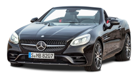 Black Mercedes AMG SLC 43 Car PNG