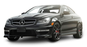 Black Mercedes Benz C63 AMG Car PNG
