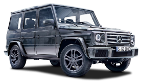 Black Mercedes Benz G Class SUV Car PNG