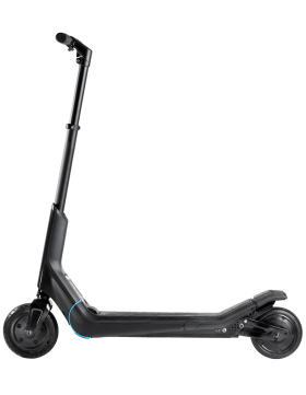 Black Modern E-Scooter Organic Design PNG