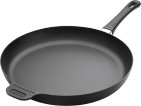 Black Steel frying Pan PNG