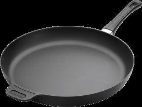 Black Steel frying Pan PNG