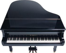 Black yamaha Piano PNG