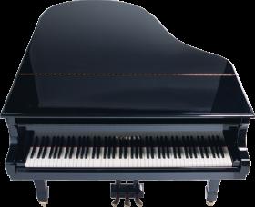 Black yamaha Piano PNG