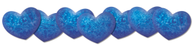 Blue Color Hearts PNG