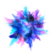 Blue Color Powder Explosion PNG