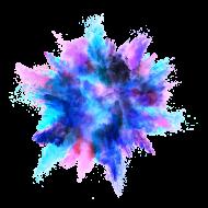 Blue Color Powder Explosion PNG