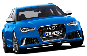 Blue Edition  Audi Luxury Car PNG