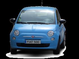 Blue Fiat 500 PNG