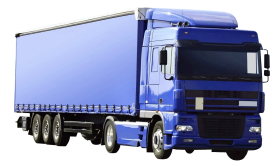 Blue Kamaz Truck PNG