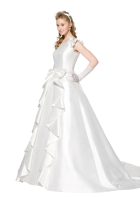 Bride Wear Beautiful White Dress PNG