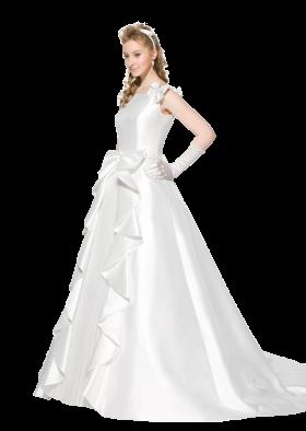 Bride Wear Beautiful White Dress PNG