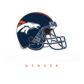 Broncos Logo With Helm PNG