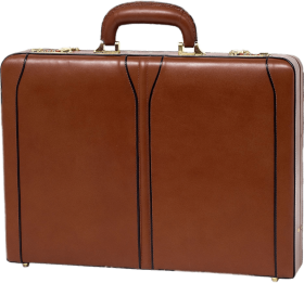 Brown Briefcase PNG PNG