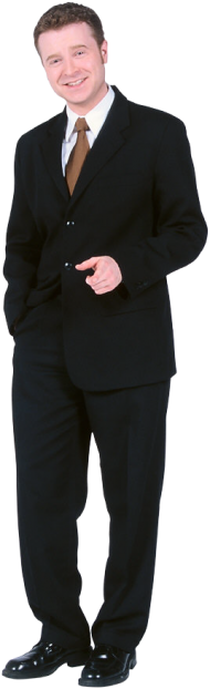 Buisnessman standing PNG