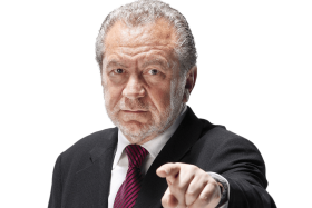 Businessman pointing in camera PNG