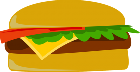 Cartoonish Hamburger PNG