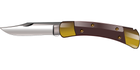 Cartoonish jackknife PNG
