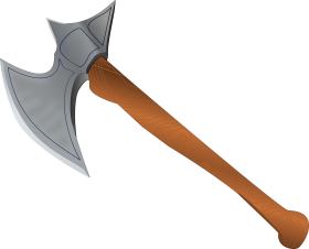Cartoonish viking axe PNG