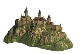 Cut-out Castle on a Hill PNG