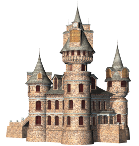 Coloured Drawing of a Castle PNG