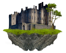 Suspending Cut-out Castle PNG