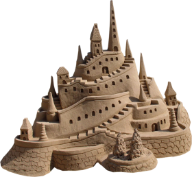 Clay Model of a Castle PNG