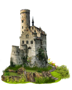 Artist Impression of a Castle PNG