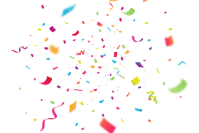 Celebration Confetti with Blur PNG