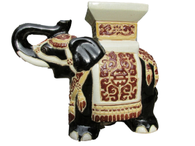 Decorated Ceramic Elephant PNG